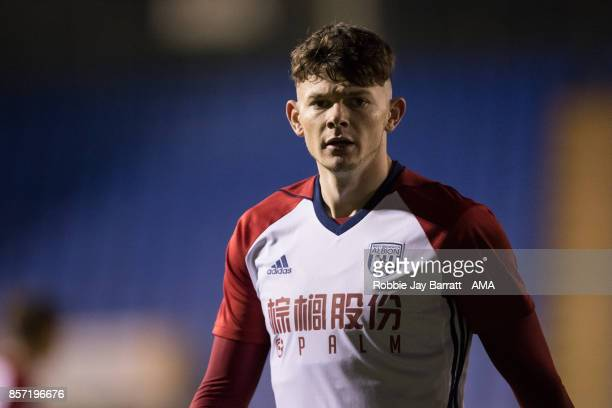 Oliver Burke of West Bromwich Albionduring the EFL Checkatrade Trophy Northern Section Group B game between Shrewsbury Town v West Bromwich Albion...