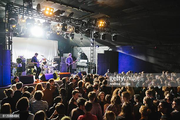 Oliver Burslem of Yak performs on stage at Electric Ballroom on February 18, 2016 in London, England.