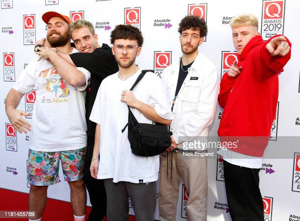 Oliver Cassidy Sam Hewitt Murray Matravers Lewis Berry and Jordan Birtles from Easy Life attend the Q Awards 2019 at The Roundhouse on October 16...