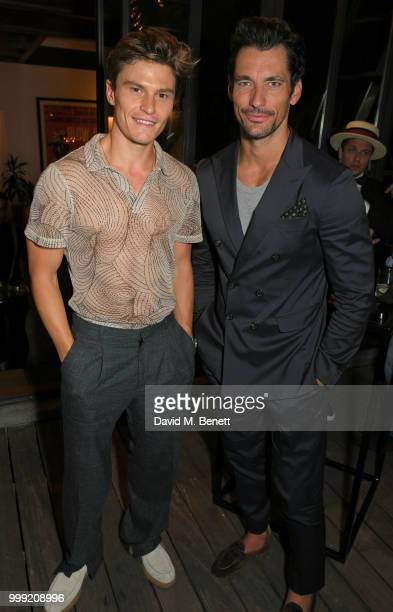 Oliver Cheshire and David Gandy attend the Formula E 1920's cocktail party hosted by Liv Tyler on the eve of the final race of the 2017/18 ABB FIA...