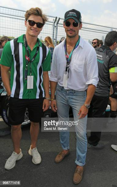 Oliver Cheshire and David Gandy attend the Formula E 2018 Qatar Airways New York City EPrix the double header season finale of the 2017/18 ABB FIA...