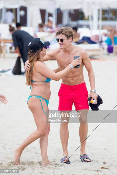Oliver Cheshire and guest are seen at Global Gift Gala Party at Hard Rock Hotel Ibiza on July 21 2017 in Ibiza Spain