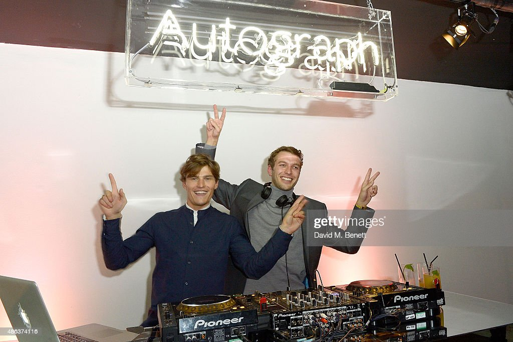 Oliver Cheshire and Josh Parkinson attend the Marks & Spencer party to launch Oliver Cheshire as the Face of Autograph Menswear on September 3, 2015 in London, England.