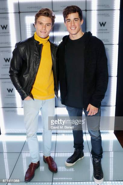 Oliver Cheshire and Pietro Boselli attend the official launch of The Perception at The W Hotel on November 7 2017 in London England