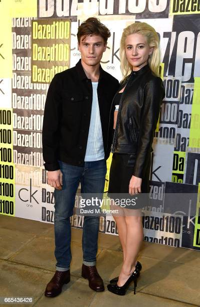 Oliver Cheshire and Pixie Lott attend as Dazed ck one celebrate the launch of The Dazed100 on April 6 2017 in London England