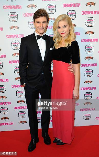 Oliver Cheshire and Pixie Lott attend the Cosmopolitan Ultimate Women of the Year Awards at One Mayfair on December 3 2014 in London England
