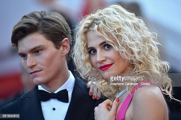 Oliver Cheshire and Pixie Lott attend the From The Land Of The Moon premiere during the 69th annual Cannes Film Festival at the Palais des Festivals...