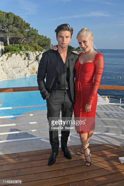 Oliver Cheshire and Pixie Lott attend the Gentleman's Journal and Chopard Road To Cannes dinner during the 72nd International Cannes Film Festival at...