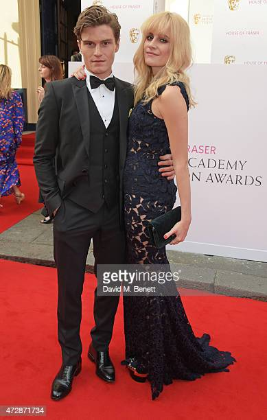 Oliver Cheshire and Pixie Lott attend the House of Fraser British Academy Television Awards at Theatre Royal Drury Lane on May 10 2015 in London...