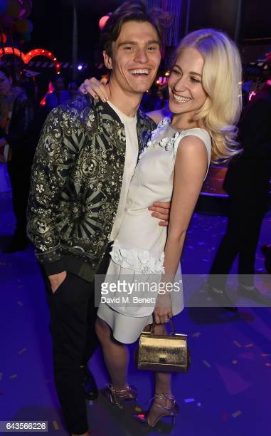 Oliver Cheshire and Pixie Lott attend The Naked Heart Foundation's Fabulous Fund Fair on February 21 2017 in London England