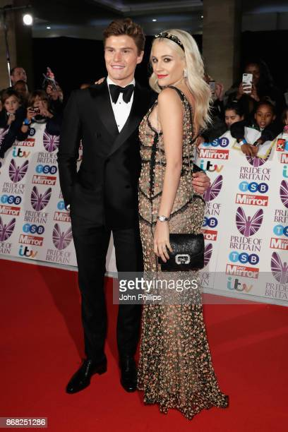 Oliver Cheshire and Pixie Lott attend the Pride Of Britain Awards at Grosvenor House on October 30 2017 in London England