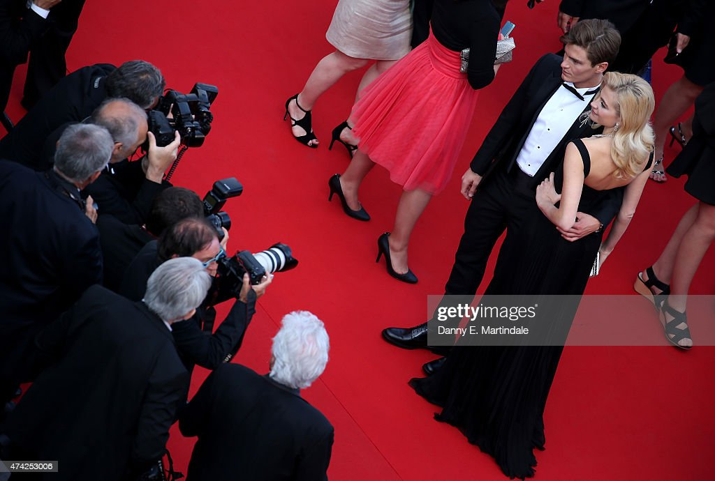Oliver Cheshire and Pixie Lott attends the Premiere of 'Dheepan' during the 68th annual Cannes Film Festival on May 21, 2015 in Cannes, France.