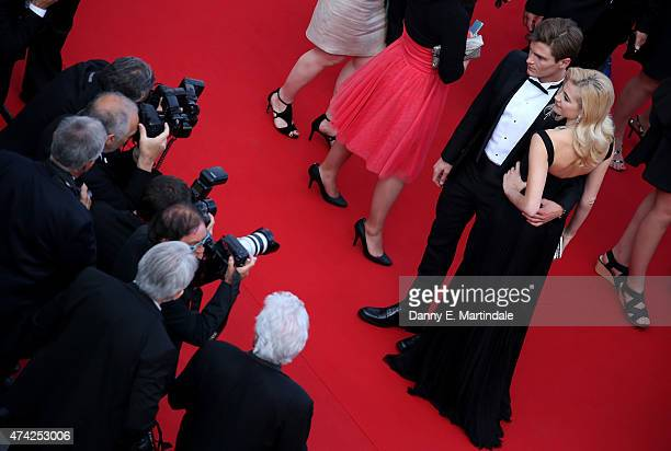Oliver Cheshire and Pixie Lott attends the Premiere of Dheepan during the 68th annual Cannes Film Festival on May 21 2015 in Cannes France