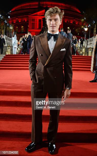 Oliver Cheshire arrives at The Fashion Awards 2018 in partnership with Swarovski at the Royal Albert Hall on December 10 2018 in London England