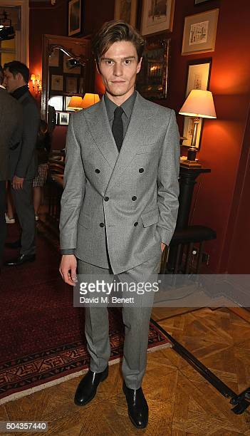 Oliver Cheshire attends dunhill Autumn Winter 2016 Collection Presentation LCM on January 10 2016 in London England
