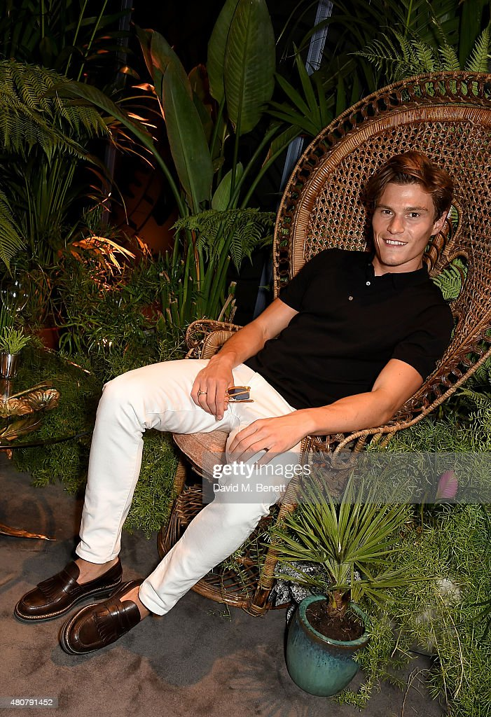 Oliver Cheshire attends Piaget 'Mediterranean Garden' Summer Party on July 15, 2015 in London, England.