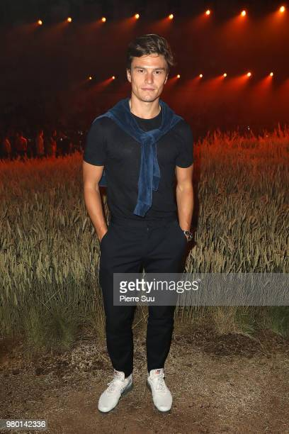 Oliver Cheshire attends the Ami Alexandre Mattiussi Menswear Spring/Summer 2019 show as part of Paris Fashion Week on June 21 2018 in Paris France