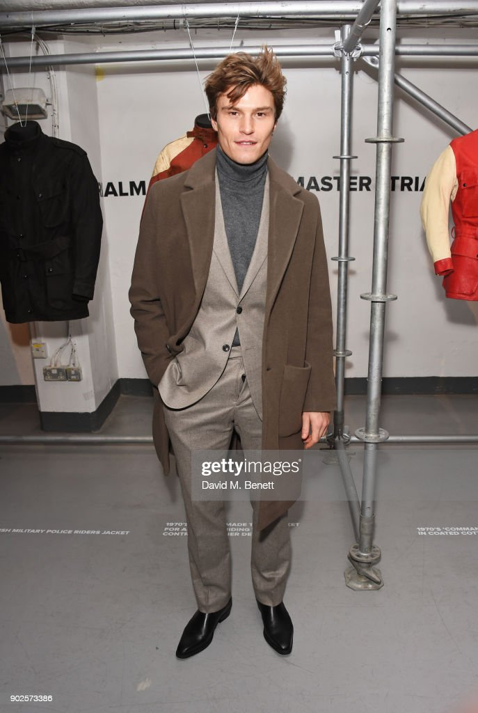 Oliver Cheshire attends the Belstaff presentation during London Fashion Week Men's January 2018 at The Vinyl Factory Gallery on January 8, 2018 in London, England.