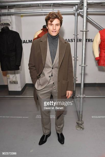 Oliver Cheshire attends the Belstaff presentation during London Fashion Week Men's January 2018 at The Vinyl Factory Gallery on January 8 2018 in...