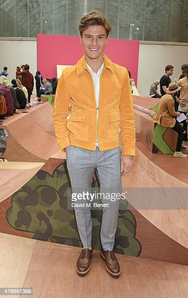 Oliver Cheshire attends the COACH Men's Spring 2016 Presentation at The Lindley Hall on June 13 2015 in London England