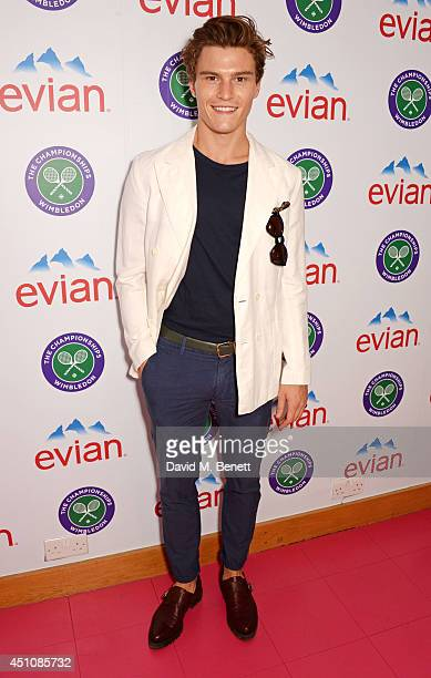 Oliver Cheshire attends the evian Live Young suite on the opening day of Wimbledon at the All England Lawn Tennis and Croquet Club on June 23 2014 in...