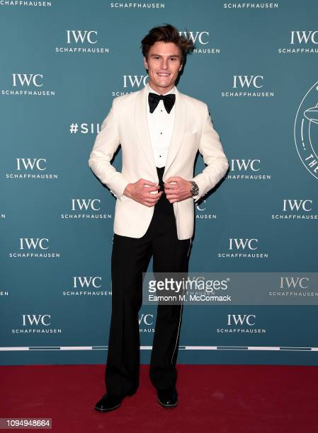 Oliver Cheshire attends the IWC Schaffhausen Gala celebrating the launch of the new Pilot's Watches at the Salon International de la Haute Horlogerie...