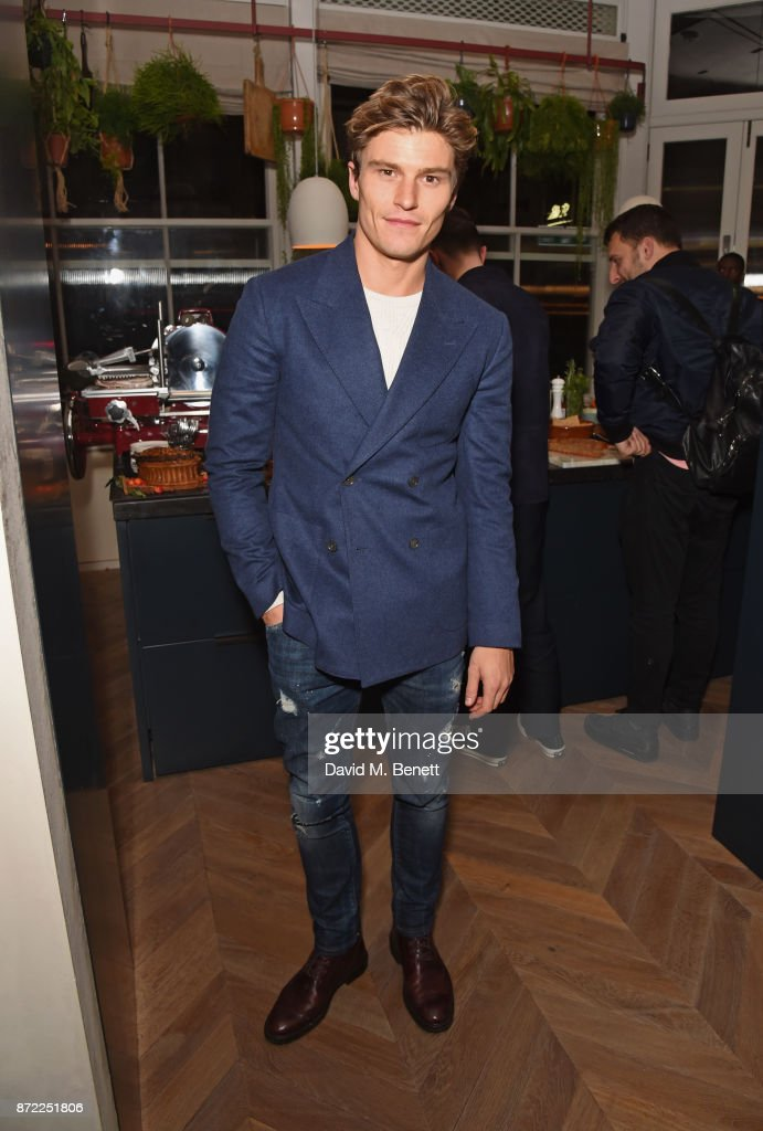 Oliver Cheshire attends the launch of the MR PORTER own label, Mr P, on November 9, 2017 in London, England.