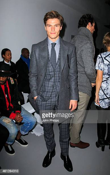 Oliver Cheshire attends the Lou Dalton show at the London Collections Men AW15 at on January 10 2015 in London England