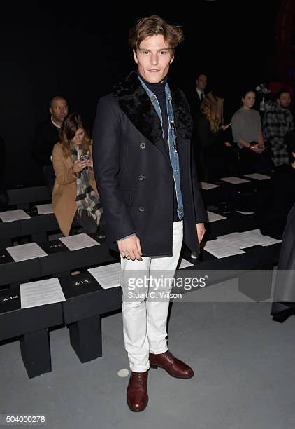 Oliver Cheshire attends the MAN show at the London Collections Men AW16 at the Topman Show Space on January 8 2016 in London England