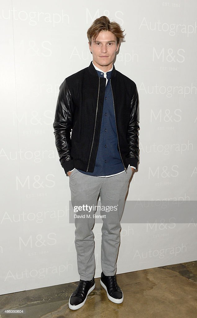 Oliver Cheshire Face of Marks & Spencer Autograph Menswear Launch AW15