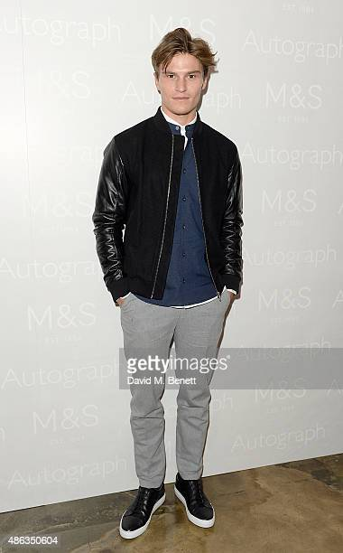 Oliver Cheshire attends the Marks Spencer party to launch Oliver Cheshire as the Face of Autograph Menswear on September 3 2015 in London England