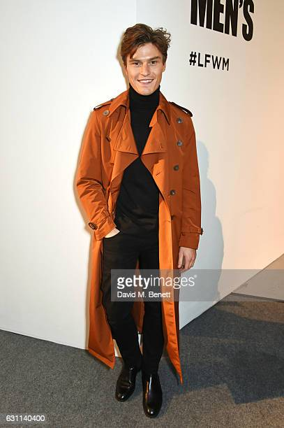 Oliver Cheshire attends the Oliver Spencer AW17 Catwalk Show during London Fashion Week Men's January 2017 at the BFC Show Space on January 7 2017 in...