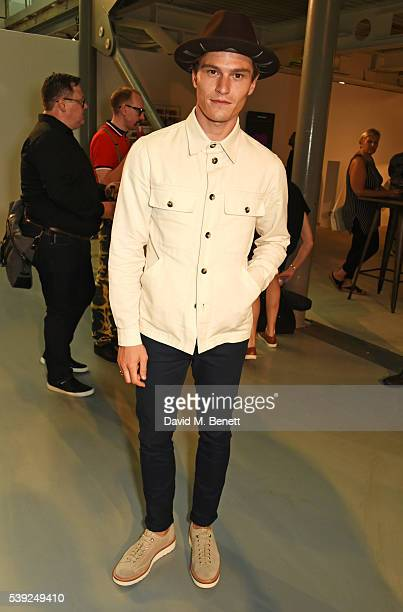 Oliver Cheshire attends the Oliver Spencer show during The London Collections Men SS17 at the BFC Show Space on June 10, 2016 in London, England.