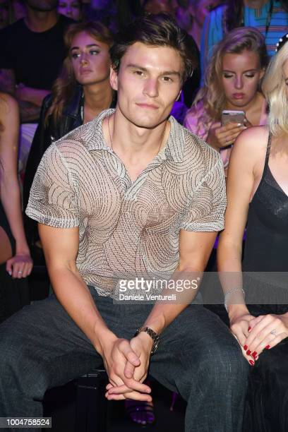Oliver Cheshire attends the Tezenis show on July 24 2018 in Verona Italy