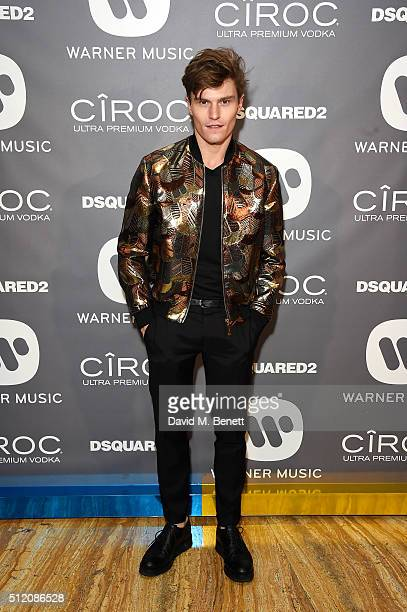 Oliver Cheshire attends the Warner Music Group Ciroc Vodka Brit Awards after party at Freemasons Hall on February 24 2016 in London England