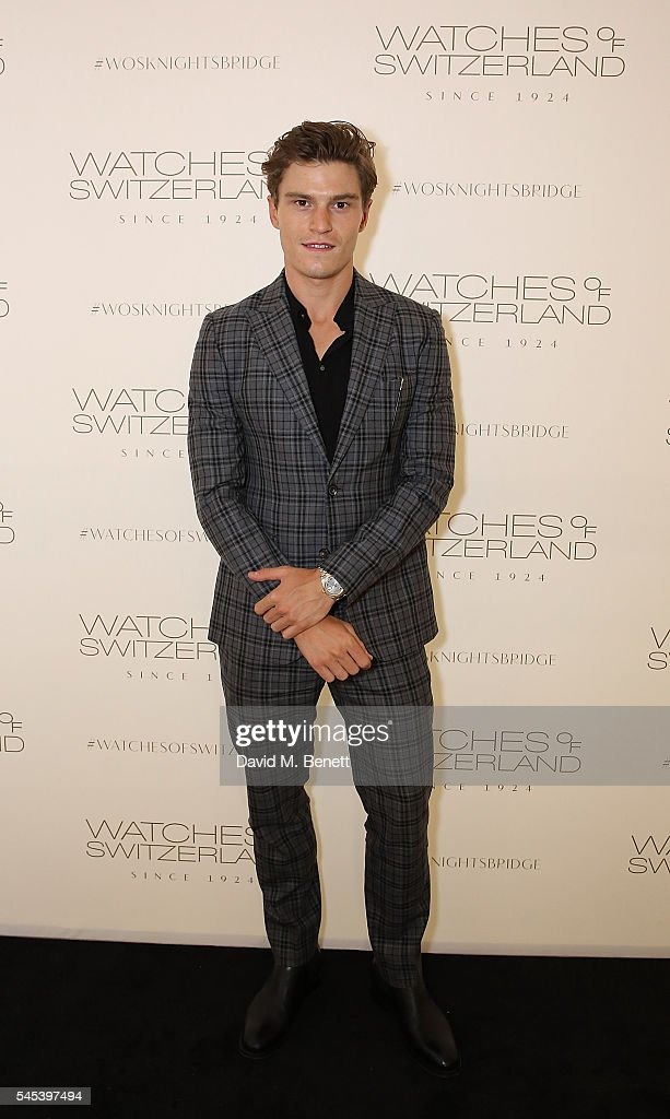 Oliver Cheshire attends Watches Of Switzerland Knightsbridge Launch on July 7, 2016 in London, England.