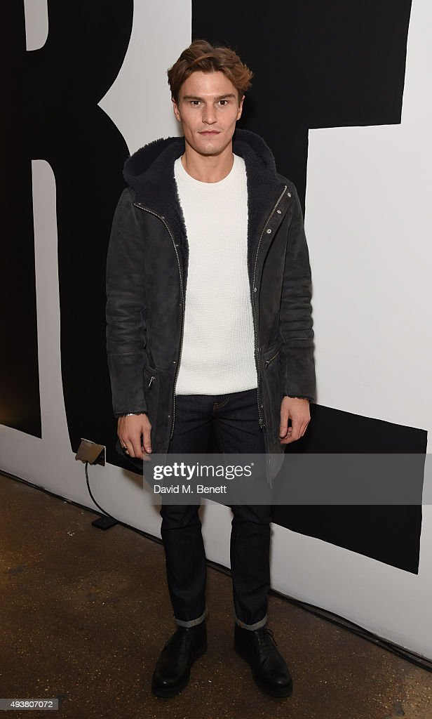 Oliver Cheshire attends Whistles Men 1st birthday celebrations at Protein Galleries on October 22, 2015 in London, England.