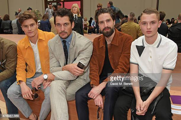 Oliver Cheshire David Gandy Jack Guinness and Rafferty Law attend the COACH Men's Spring 2016 Presentation at The Lindley Hall on June 13 2015 in...
