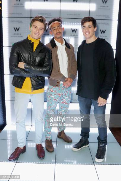 Oliver Cheshire Jordan Stephens and Pietro Boselli attend the official launch of The Perception at The W Hotel on November 7 2017 in London England