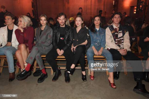 Oliver Cheshire, Pixie Lott. Hana Cross, Harry Treadaway, Holliday Grainger, Amy Jackson and Isaac Carew attend the TOMMYNOW London Spring 2020 at...