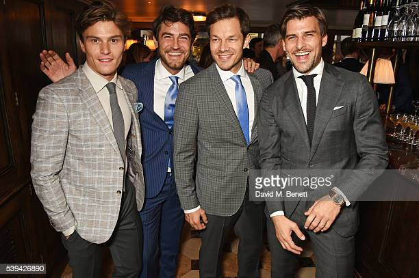 Oliver Cheshire Robert Konjic Paul Sculfor and Johannes Huebl attend a dinner hosted by Tommy Hilfiger and Dylan Jones to celebrate London...