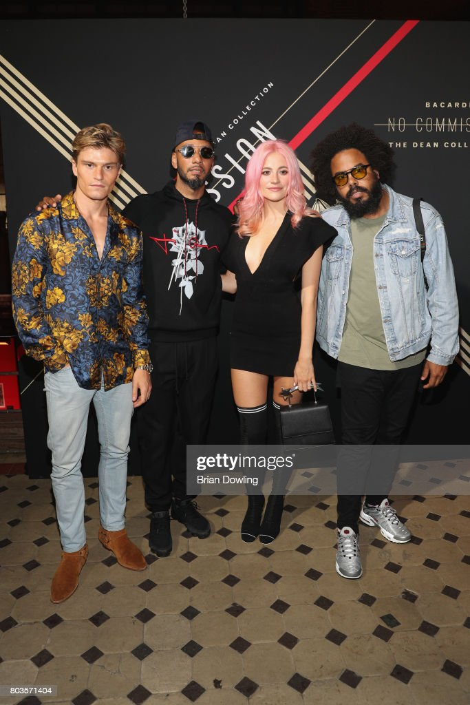 Oliver Cheshire, Swizz Beatz, Pixie Lott and Jillionaire of Major Lazer attend Bacardi X The Dean Collection Present: No Commission Berlin on June 29, 2017 in Berlin, Germany.