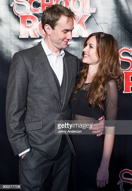 Oliver Chris and Lydia Wilson attend School Of Rock Broadway opening night at Winter Garden Theatre on December 6 2015 in New York City