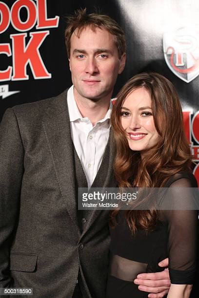 Oliver Chris and Lydia Wilson attend the Broadway Opening Night Performance of 'School of Rock' at the Winter Garden Theatre on December 6 2015 in...