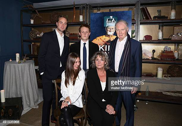 Oliver Chris Lydia Wilson Richard Goulding Margot Leicester and Tim PigottSmith attend a welcome to New York party for the cast of Broadway's 'King...