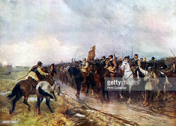 'Oliver Cromwell and his Troops at Dunbar Singing the 118th Psalm' 1926 Cromwell commanded the forces of Parliament during the English Civil War...