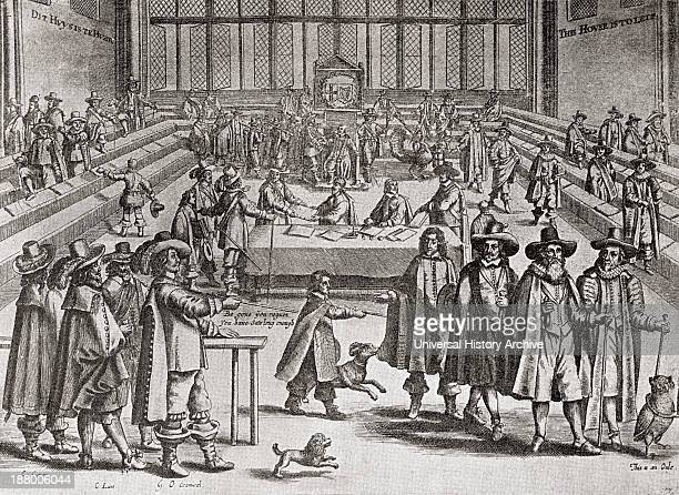 Oliver Cromwell Dissolving Parliament In 1653 From The Book Short History Of The English People By JR Green Published London 1893