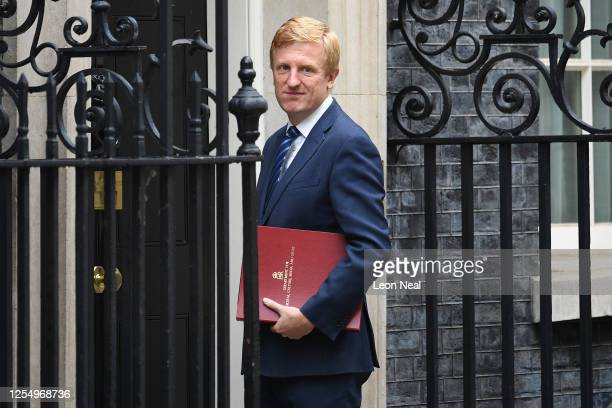 Oliver Dowden, HM Secretary of State for Digital, Culture, Media and Sport, arrives at 10 Downing Street on July 8, 2020 in London, England. The...