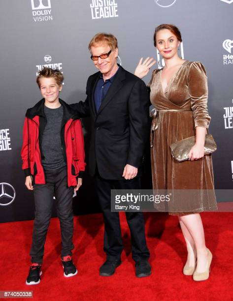 Oliver Elfman Composer Danny Elfman and Mali Elfman attend the premiere of Warner Bros Pictures' 'Justice League' at Dolby Theatre on November 13...
