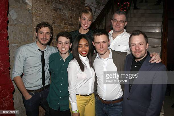 Oliver Farnworth Jake Davies Suranne Jones Zaraah Abrahams author Jonathan Harvey DannyBoy Hatchard and director Nikolai Foster attend the 'Beautiful...
